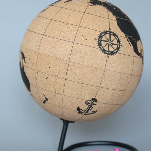 Высокое качество вращающийся сувенир образования украшения глобусы географические карты для преподавания маркировки Memo