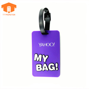 Wholesale luggage tag standard size pvc luggage tag silicon rubber luggage tag