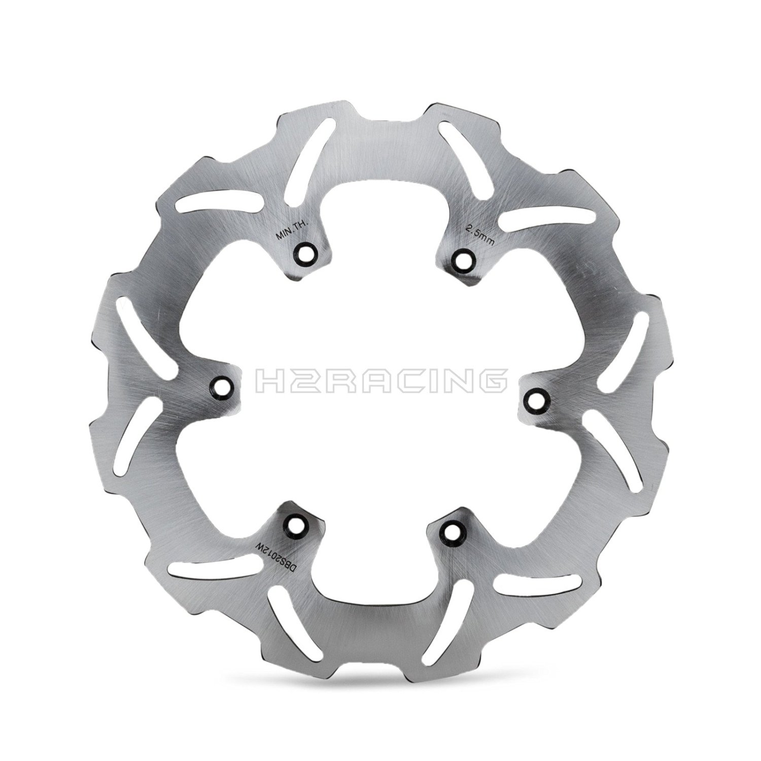 H2RACING 250mm Wave Rear Brake Disc Rotor for Suzuki RM125 1989-2009 RM250 1989-2012?RMX250S 1992-1998 YZ426F/WR426F 2001-2002 WR125/WR250 2001-2007 DRZ400E 2000-2008 DRZ400S 2000-2009?