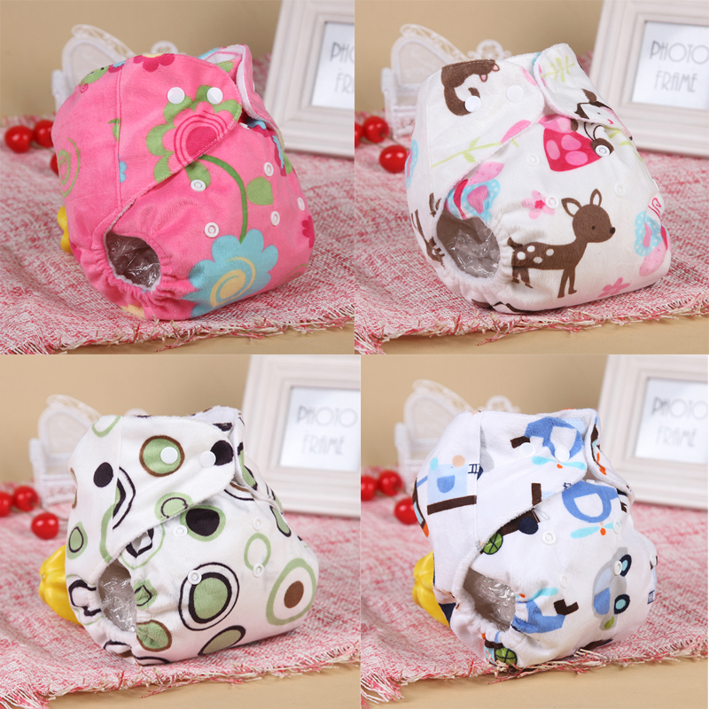 4 Styles Baby Soft Cotton Cloth Diaper Reusable Baby Nappies Waterproof Adjustable Infant Pocket Diaper Nappy Baby Care CD88032