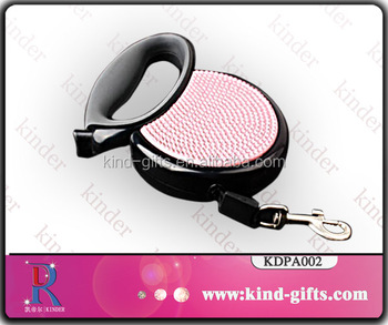 Mini classic style retractable dog leash, Crystal Classic Dog Leashes