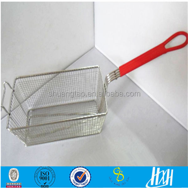 New product !!! stainless steel deep commercial fish fryer basket 16x33x16cm