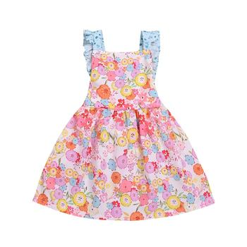 2019 New design toddler Girls Dresses Summer beautiful Sleeveless Floral Party dresses baby girl Dress