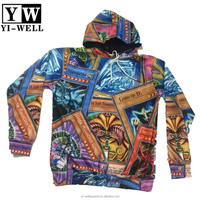 colorful full printing sweatshirt with hood 3D custom sublimation printing hoodies