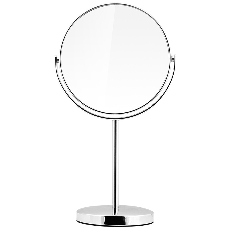 Custom Rotatable Double Side 3X Magnifying Metal Table Cosmetic Mirror