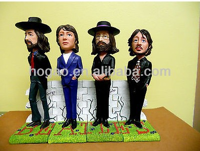 Polyresin beatles bobble head custom bobble head