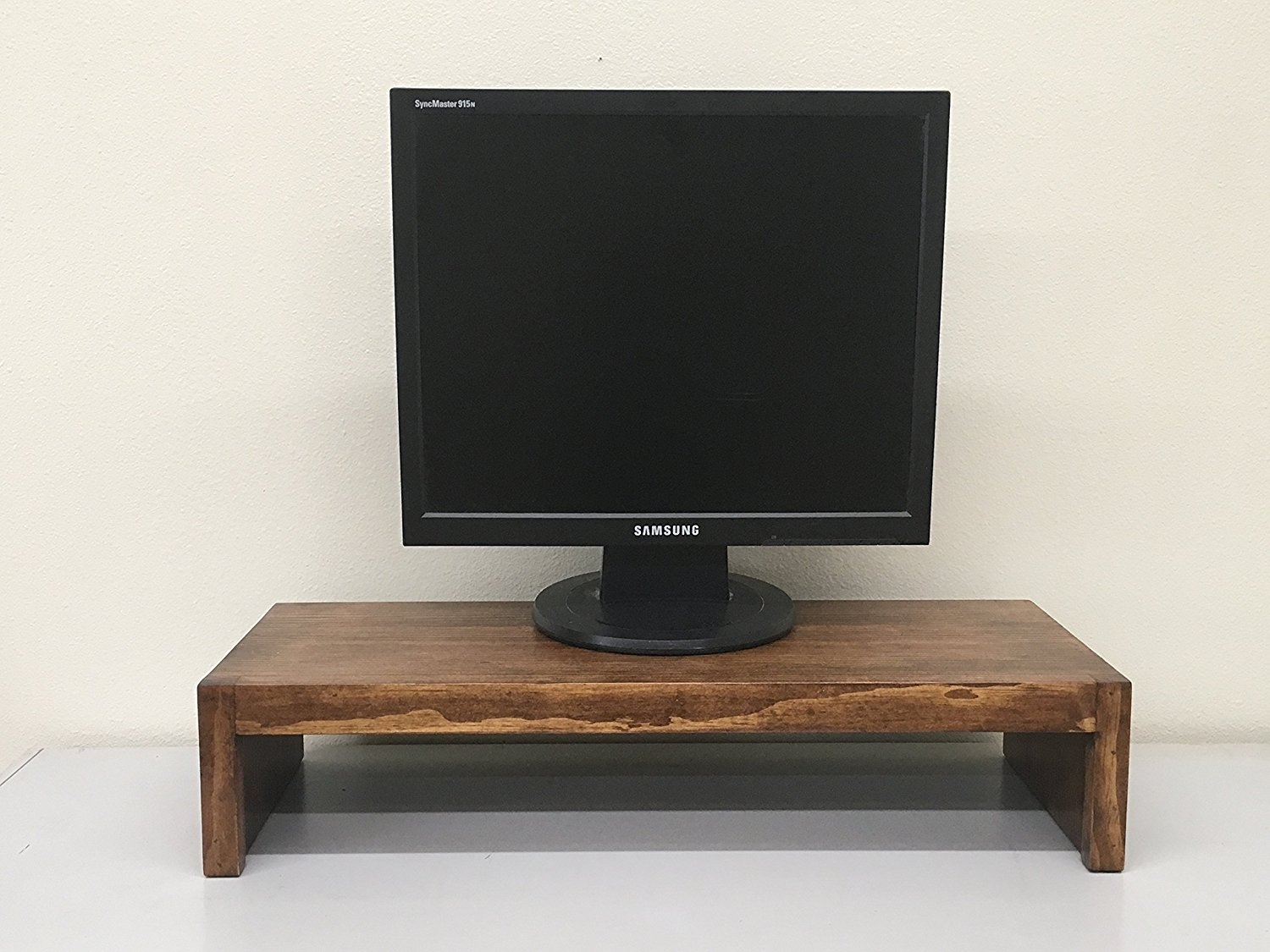 """TV/Monitor Riser Stand Modern Solid Pine 26""""w & 38"""" Wide (Coffee, 38"""" Wide) (Coffee, 38"""" Wide)"""
