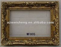 carved antique hand painted wooden mirror frame