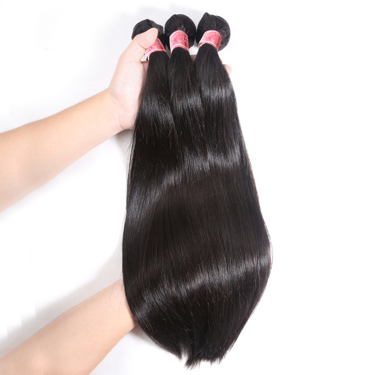 Top Quality Remy Hair Weave Virgin Cuticle Aligned Brazilian Straight Hair Bundles in Hair Extension for Black Women Discount фото