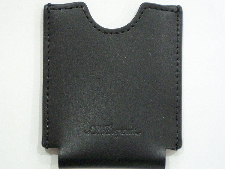 S.T. Dupont Black Leather Cigar Cutter Holder Pouch Wallet Sheaf Case New