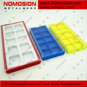 Milling carbide inserts plastic grid packaging box