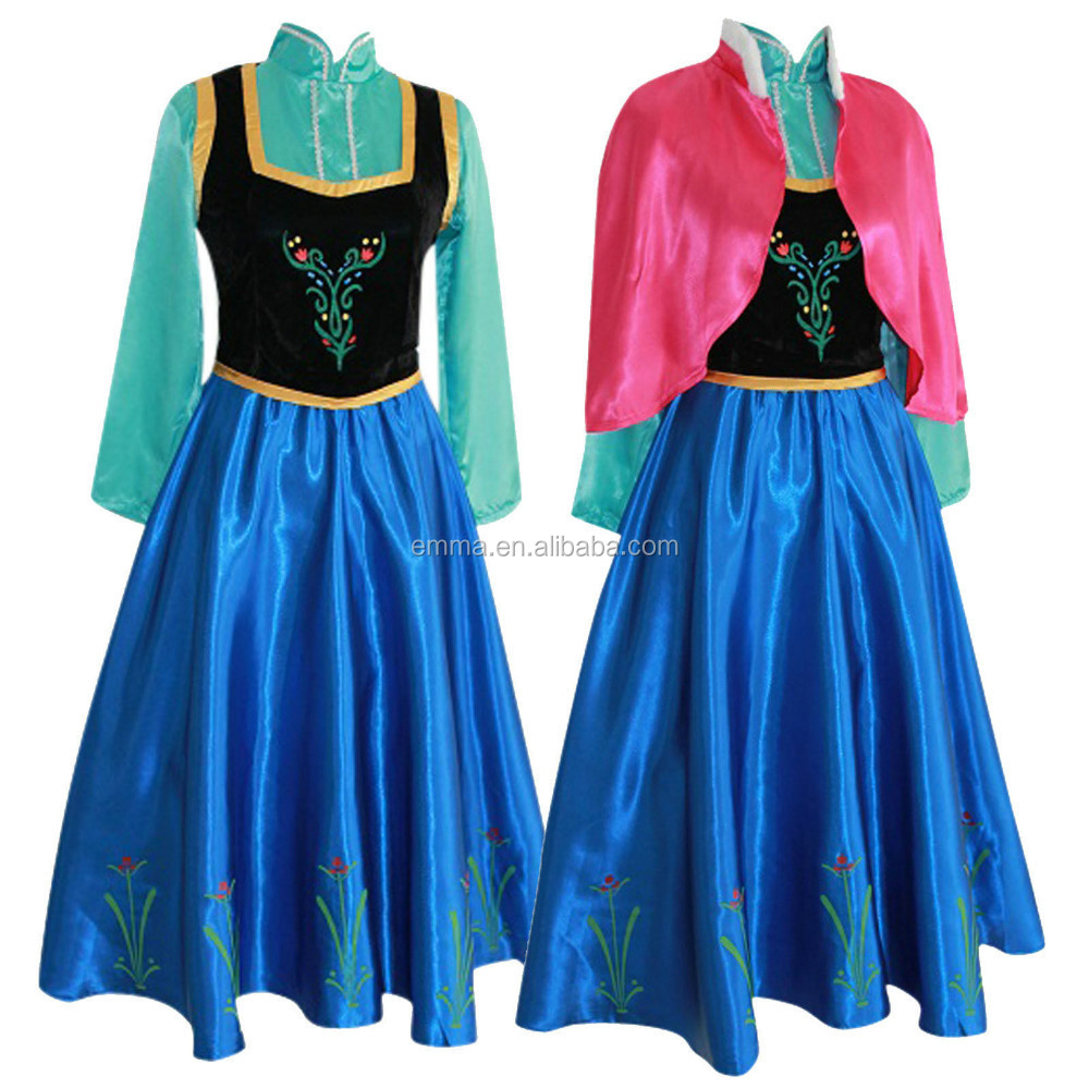 Adult Frozen Costume Princess Anna Fancy Dress Gown Snow Queen Bwg 2231 Buy Anna Dressfrozen Anna Dresscostume Product On Alibabacom