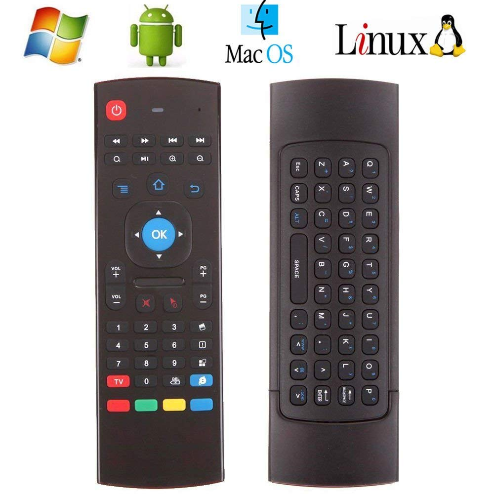 simply silver - 5 X MX3 81Key 2.4G Wireless Air Fly Mouse Keyboard Remote Control For Android TV