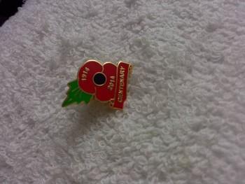 2014 New Custom Metal Red Poppy Flower Metal Poppy Badge Custom