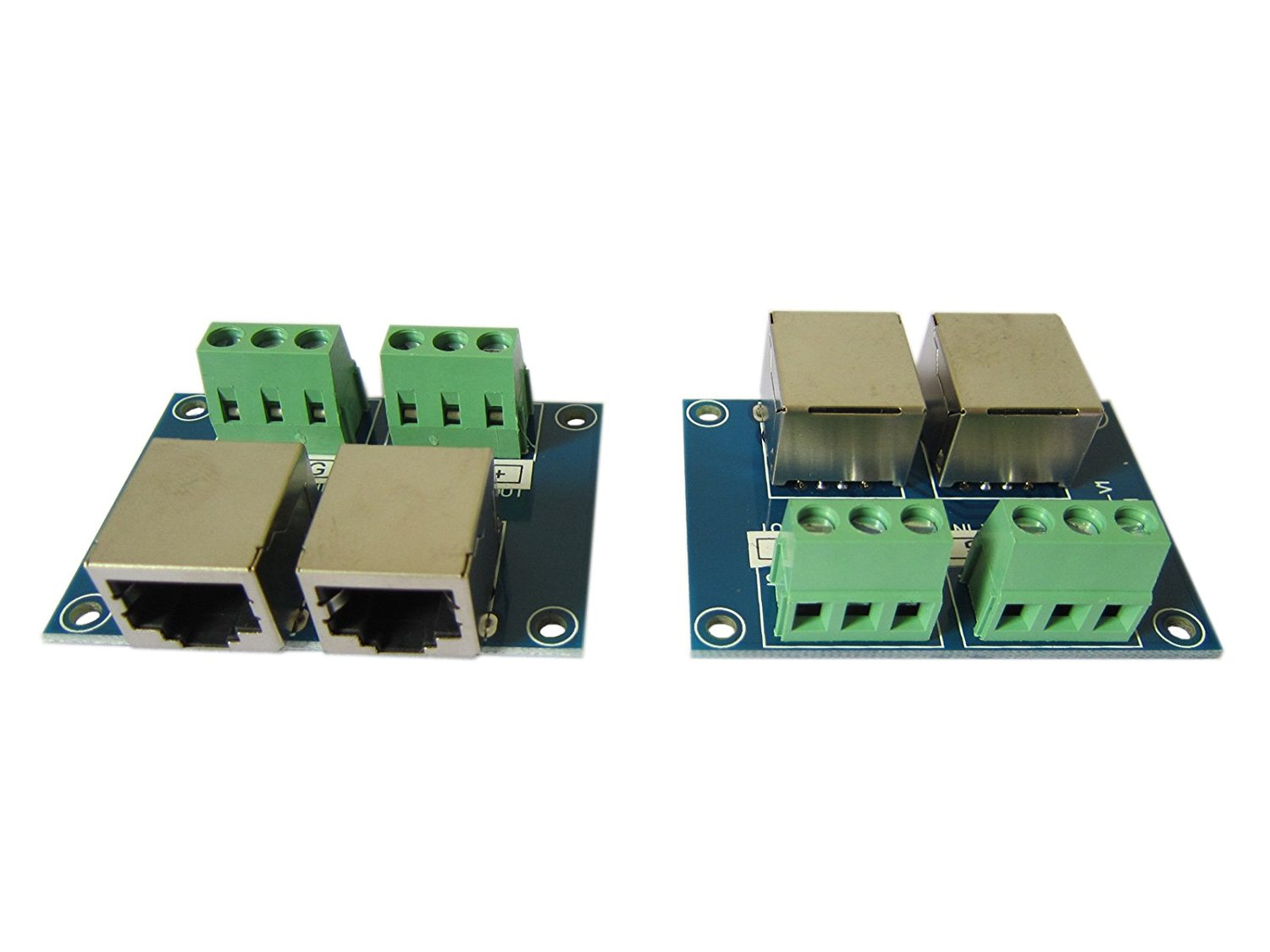 3Pin Terminal Adapter RJ4 3P to RJ45 Converters Plate DMX Controller Decoder (Pack of 2)