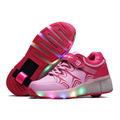 Child Heelys Girls Boys LED Light wheelys Children Roller Skate Shoes Kids sport shoes Sneakers With