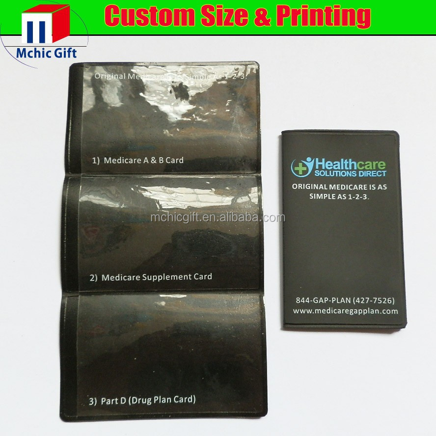 New brand custom soft pvc 3 fold wallet