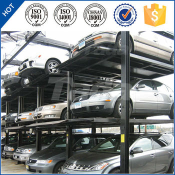 China PJS vertical pit three-tier car parking/Car stacking system