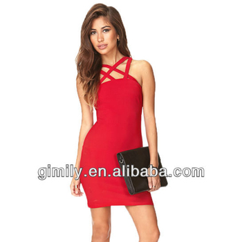 Rode Dames Jurk.Dames Rode Bandage Strakke Korte Prom Mouwloze Sexy Jurken Buy