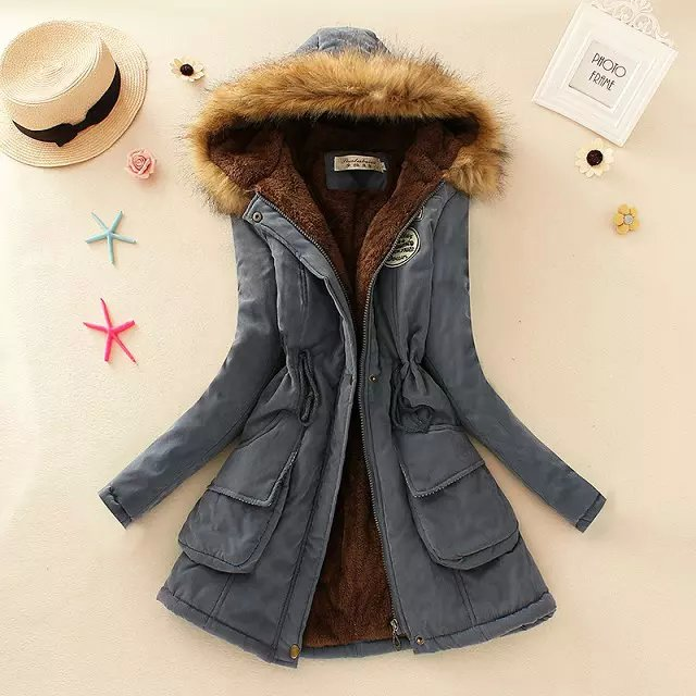 Hao Baby 2018 Women Coat Winter Korean Version Of the Thick Hooded Long Section Cashmere Lamb Coat Women