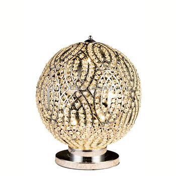 Round Ball Crystal Table Lights Mini Lamp Beads Desk