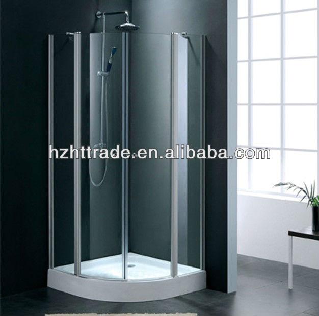 Ba o puerta plegable de vidrio templado ba o cabina de ducha cabina salas de ducha - Puerta plegable bano ...