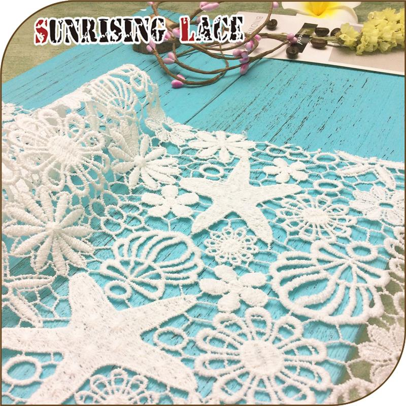 Polyester Chemical Floral Embroidery Ankara Korean Lace Fabric