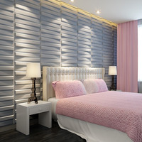 Wood tv 3D texture wall sandwich panel price decorative wall panels for interior decoration