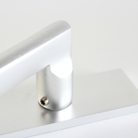 Design Hidden Mortise Modern Lever M8 Pu H Shape Handle Br Lock Set Box Key Door Handle