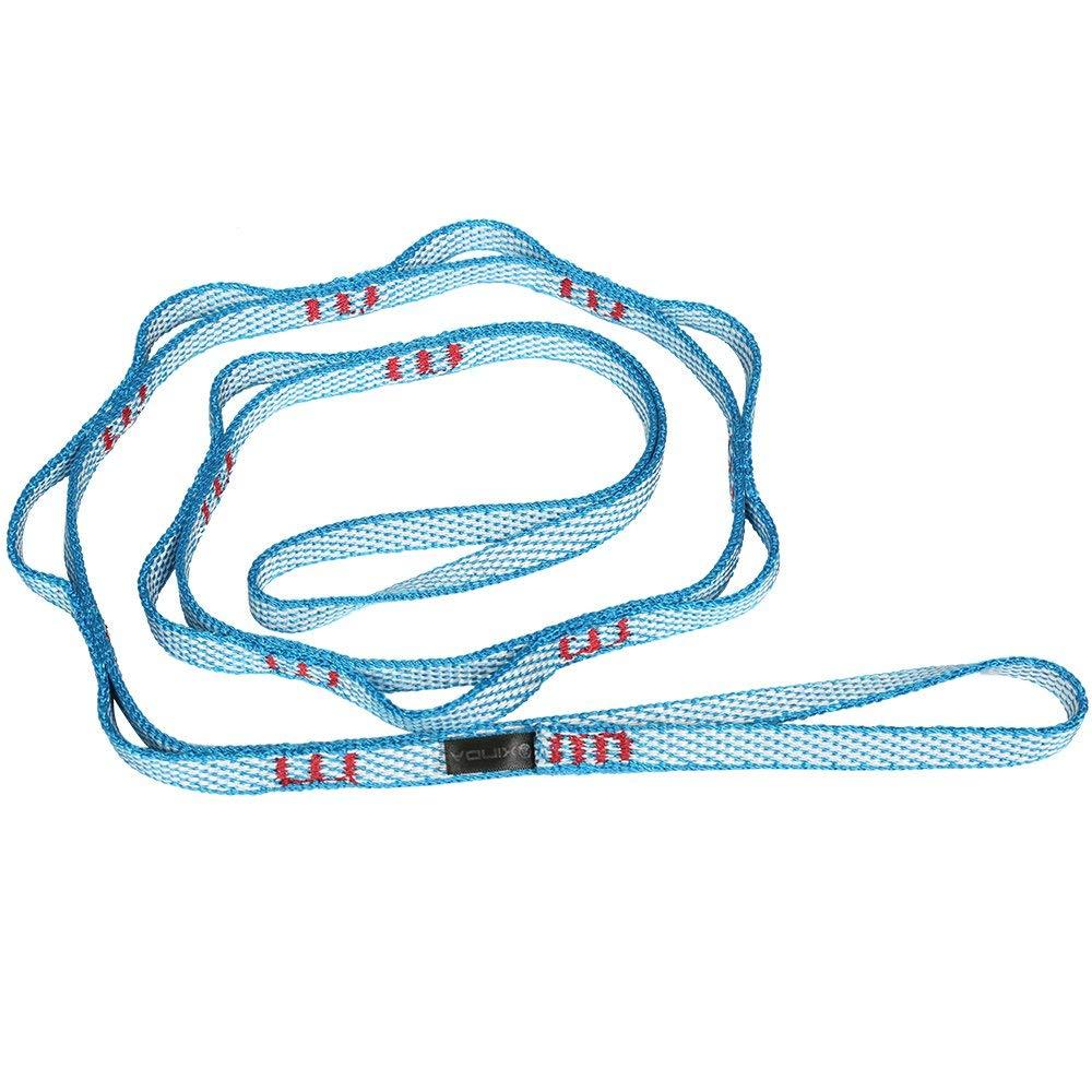 MagiDeal 22KN Nylon Daisy Chain Loop Rope Ultralight Climbing Downhill Ring Sling Blue