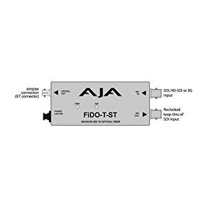 AJA FiDO-T-ST Single Channel Optical Fiber SDI to ST Fiber Converter with Looping SDI Output