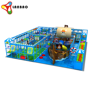 Customized Indoor Playground Pirate Ship Indoor Soft Play Area With Trampoline Park