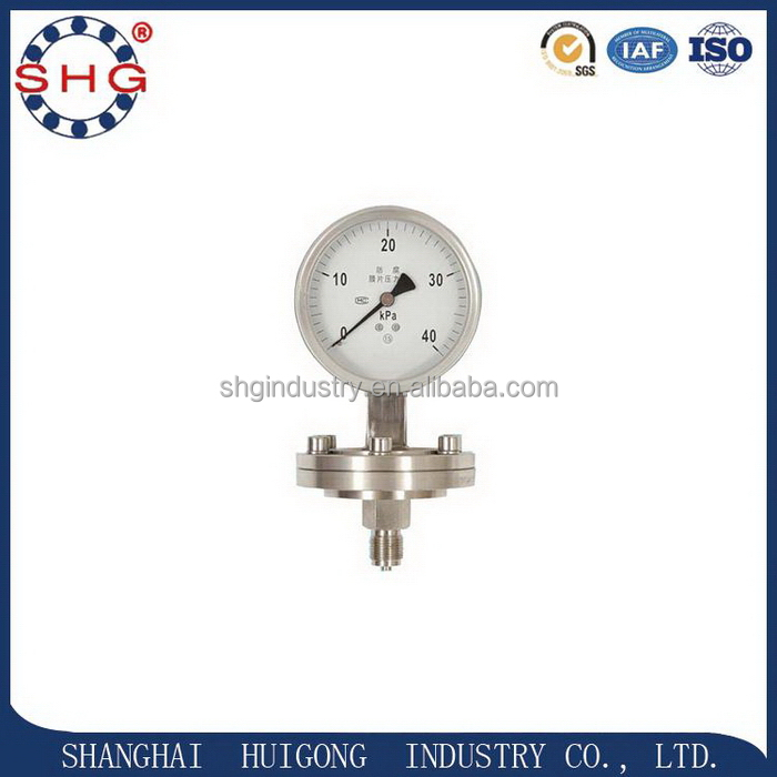 New style competitive triple scale pressure gauge