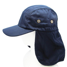 one size adjustable Cotton Blend outdoor sports fishing hat with Long Neck Ear Flap Cover