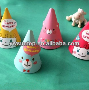 Diy Mini Cartoon Korean Cute Birthday Party Hat Baby ...