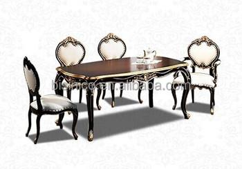Eetkamer Massief Hout : Massief hout met bladgoud folie eetkamer meubilair set luxe eettafel