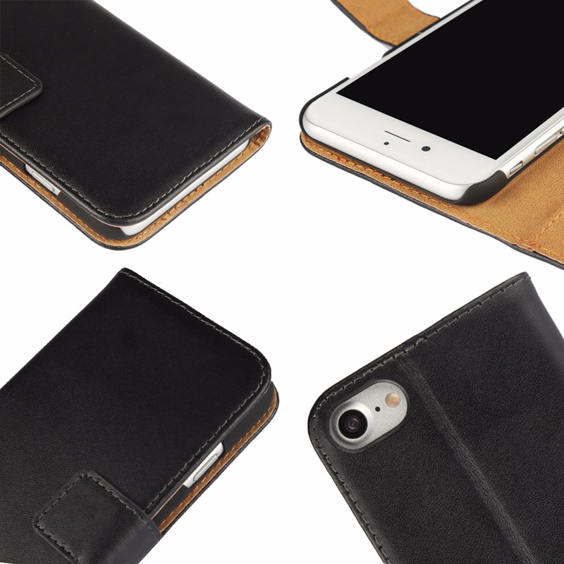 iCoverCase Mobile Phone Wallet Leather Flip Cover for iPhone 4 4S 5C 5 S SE 6 6S 7 8 Plus X XS XR XS Max Case