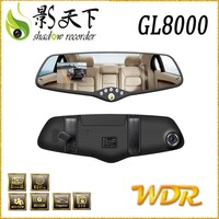 Wholesale shadow full hd 1080p gps tachograph, usb 6G sharp glass lens car reverse back view mirror camera