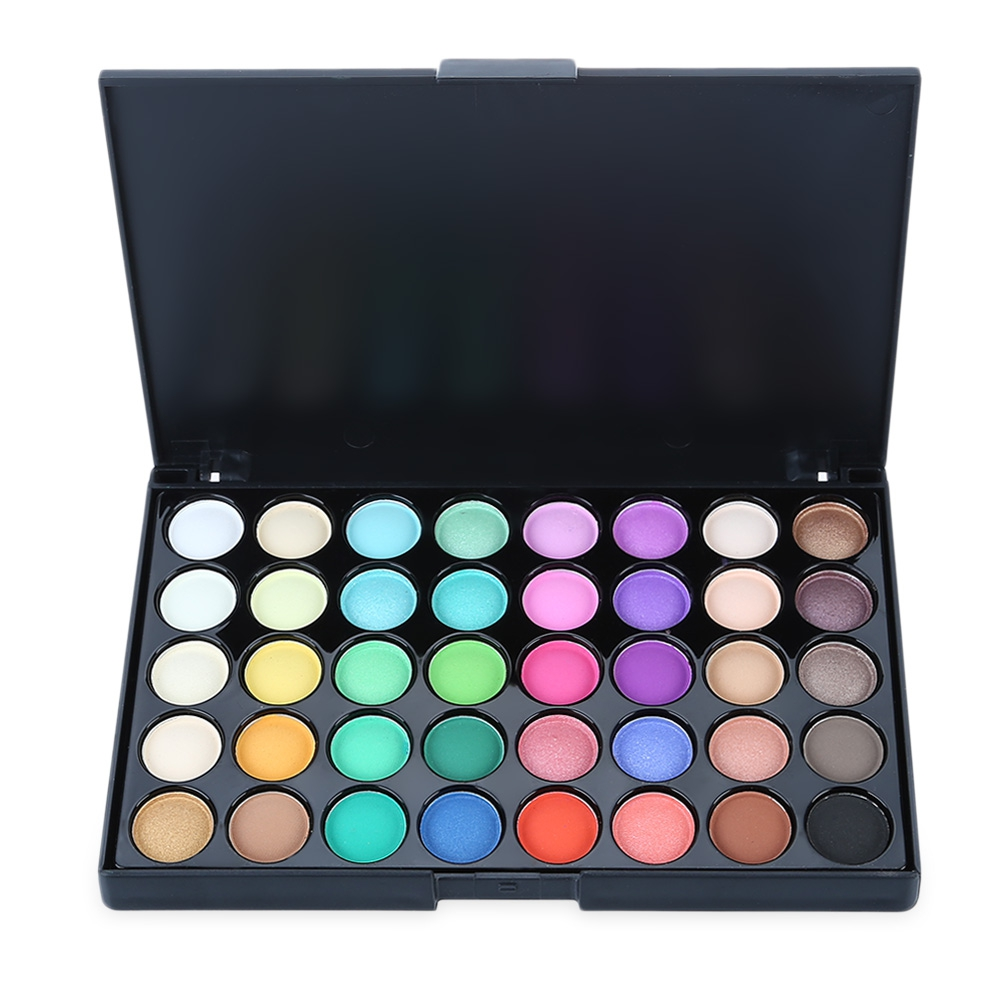 40 Color Eyeshadow Pearl Matte Shimmer Eye Shadow Compact Palettes Earth Warm Eyeshadow Makeup Palette