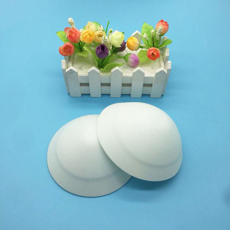 Fonte da fábrica Rodada Esponja Bra Copo Reunir No Peito Vestido Sem Alças Copos do Sutiã De Espuma