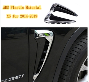 Car Accessories Rear Window Fender Air Vent Side Mark Cover Sticker 2Pcs  For BMW X5 X Series 2014-2019