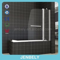 180 DEGREE PIVOT 6mm GLASS DOUBLE OVER BATH SHOWER SCREEN BL-038
