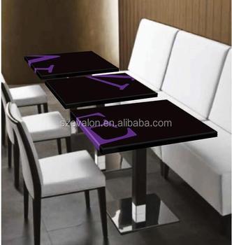 Home Funiture Dubai Dining Table SupplierAcrylic White Dining Table - Restaurant table supplier