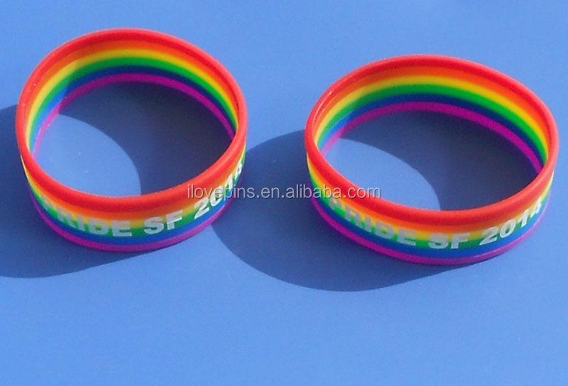 Black PRIDE Silicone Keyring Lesbian Gay LGBT Unisex Key Ring Holder