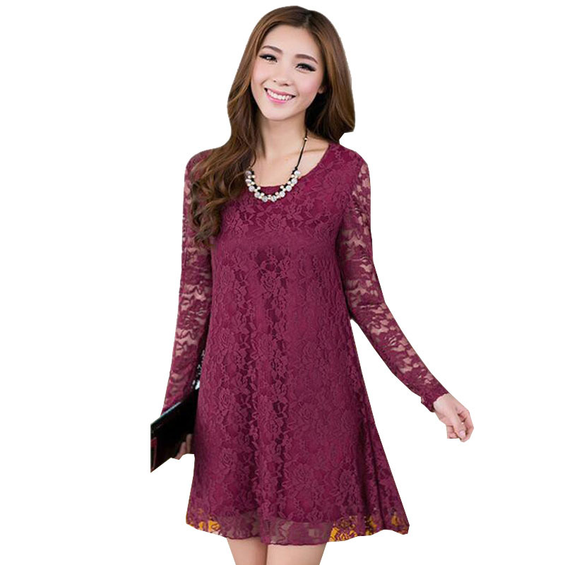 d91052c8e3d XXL-L Plus Size Lace Hook Flower Maternity Dresses Elegant Gravida Dress  For Pregnant Women