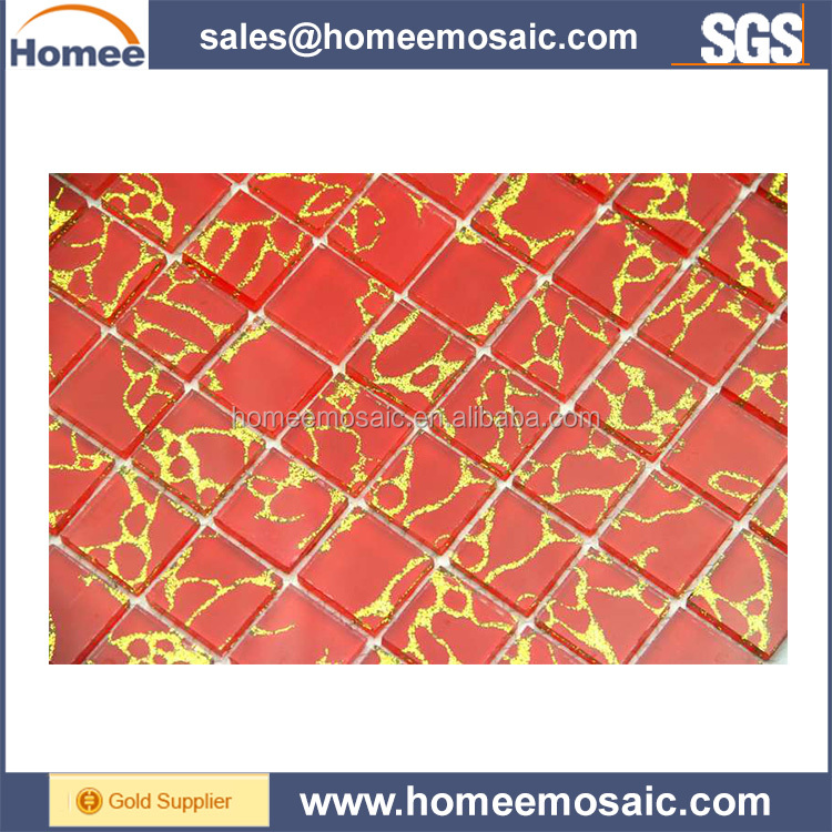 The best selling products high class pink glass mosaic tile