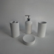 accessories simple modern pure white custom ceramic bathroom sets 4pcs