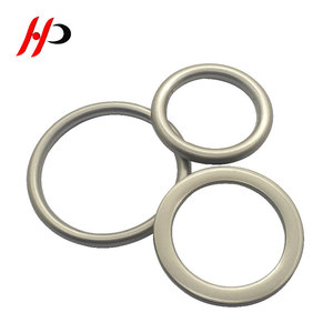 Custom Flat Silver Assorted Multi-Purpose Metal O Ring Buckle For Hardware Bags Ring Hand DIY