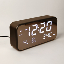 led digital display desk calendar alarm clock, music led digital clock with temperature