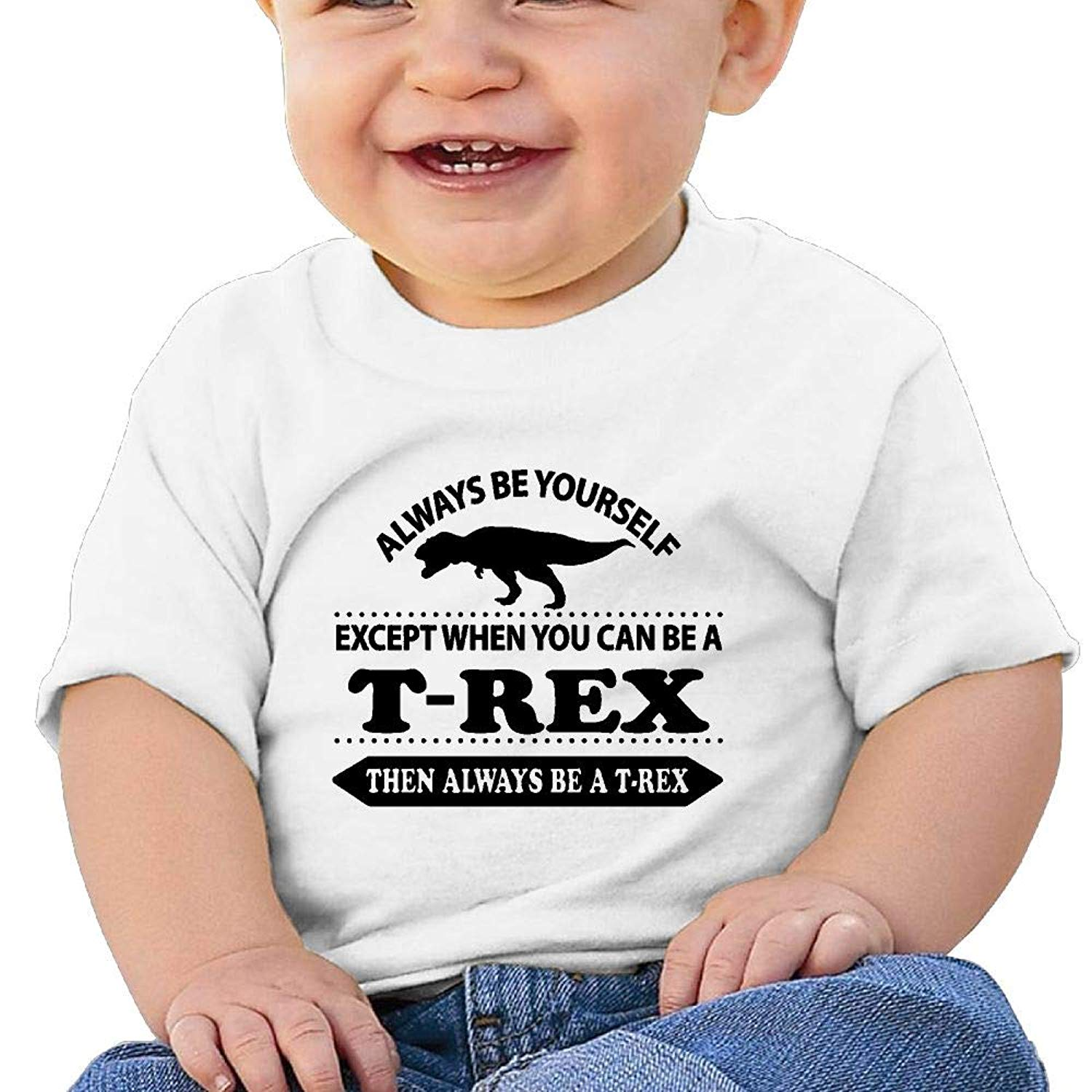 Always Be Yourself Unless You Can Be A T-Rex Short Sleeve T Shirt Tee Tops for 6-24m Baby Toddler Infant Baby Boys Girls